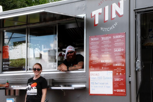 The Tin Kitchen serving up food at the food truck
