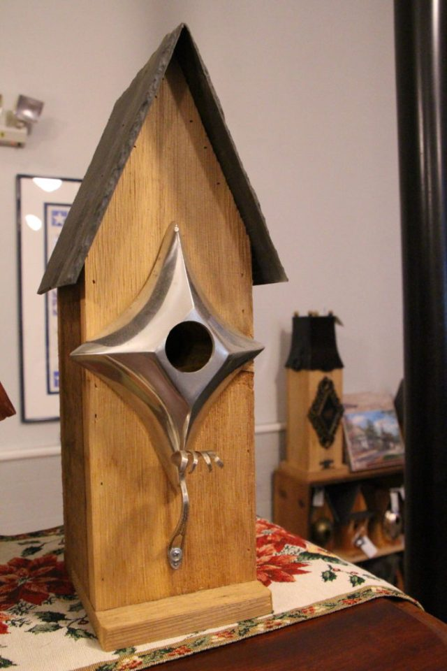Made by Hand Birdhouses at the Welcome Center