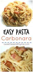 Pasta Carbonara - Sweet Tea and Thyme