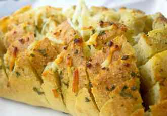 Cheesy Garlic Pull Apart Bread - Sweet Tea & Thyme