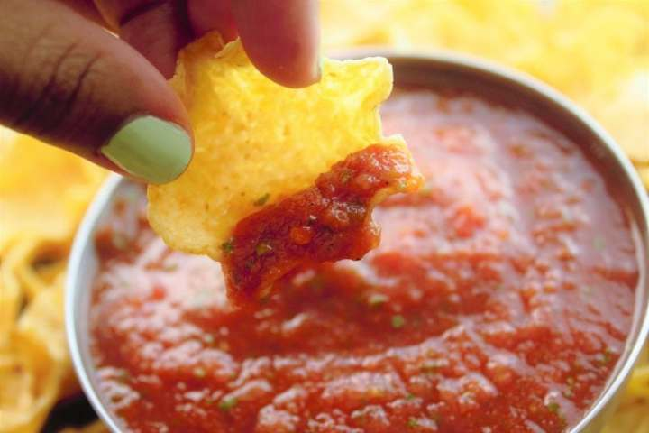 Homemade salsa has never been easier or more delicious! Toss all the ingredients in a blender to achieve restaurant quality salsa in less than five minutes.