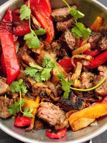 Steak Fajitas - Sweet Tea & Thyme