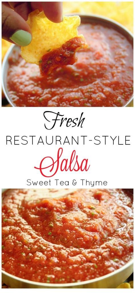 Restaurant Style Salsa - Sweet Tea and Thyme
