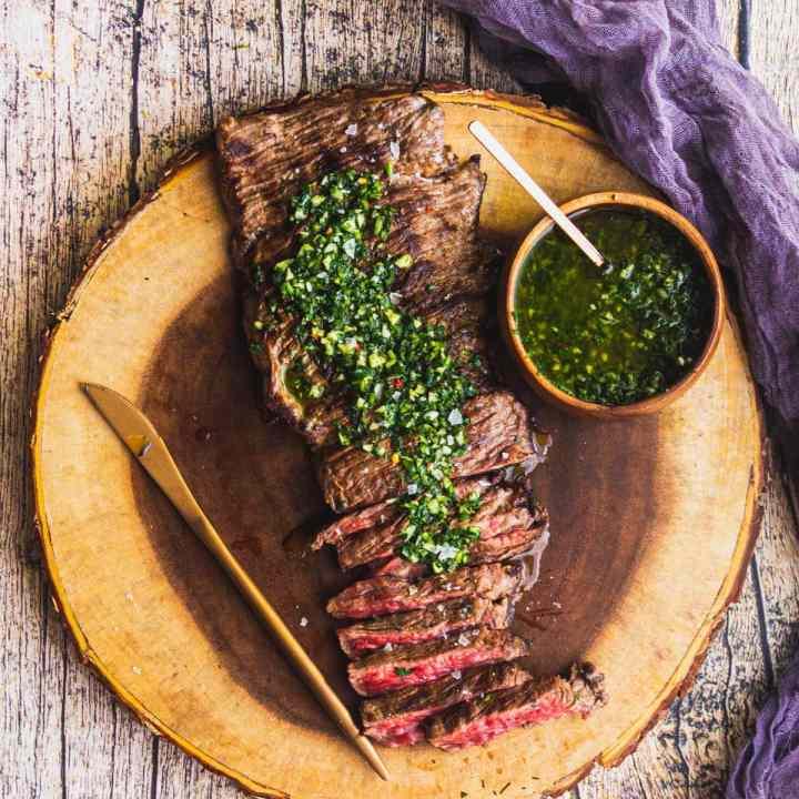 Churrasco Steak with Chimichurri Sauce