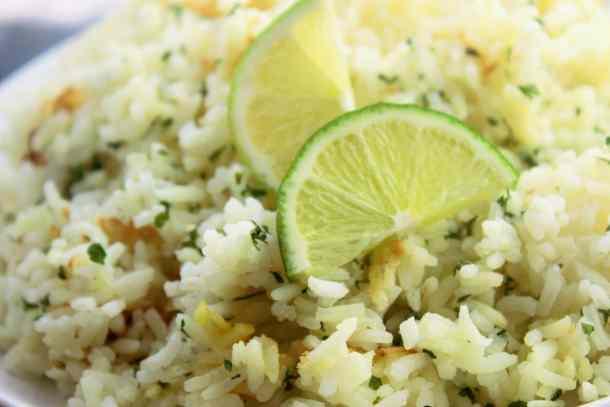 Cilantro Lime Rice - Sweet Tea & Thyme