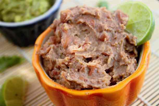 Refried Beans take only about 15 minutes to make and is absolutely a necessary side dish when making a Mexican-inspired meal!