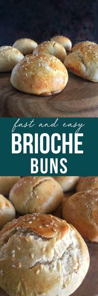 Brioche buns long pin for pinterest