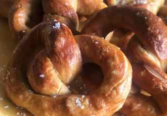 This soft pretzel recipe may even be better than that mall kiosk. Soft, chewy, easy, homemade pretzels in 45 minutes, start to finish.