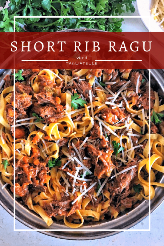 Rich and rustic bolognese slowly simmered with Italian tomatoes and tender short rib, making a mind-blowingly amazing sauce. Pure Italian comfort food for fall and winter months. Our family LOVES this!