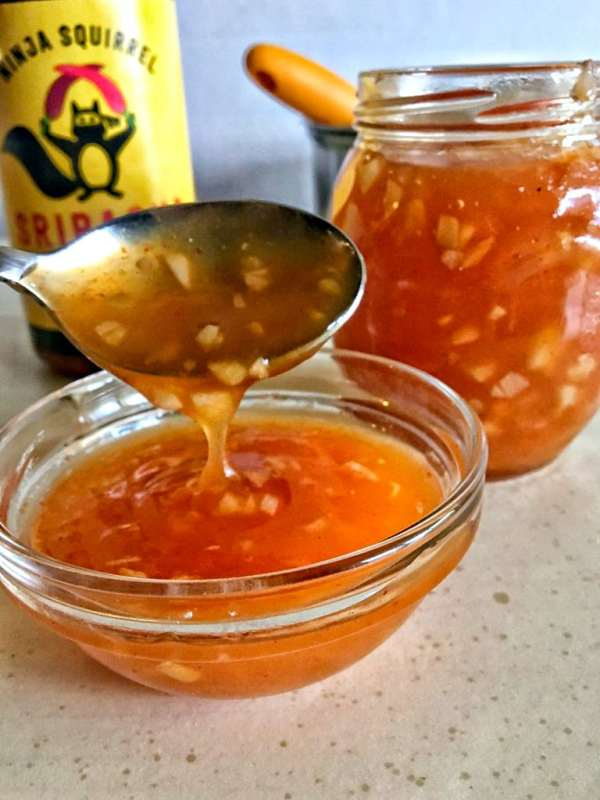 Sweet Chili Sauce may become your new favorite condiment. It's easy to make, zesty, sweet, and spicy, lasts a while and uses real ingredients you already have in your pantry!