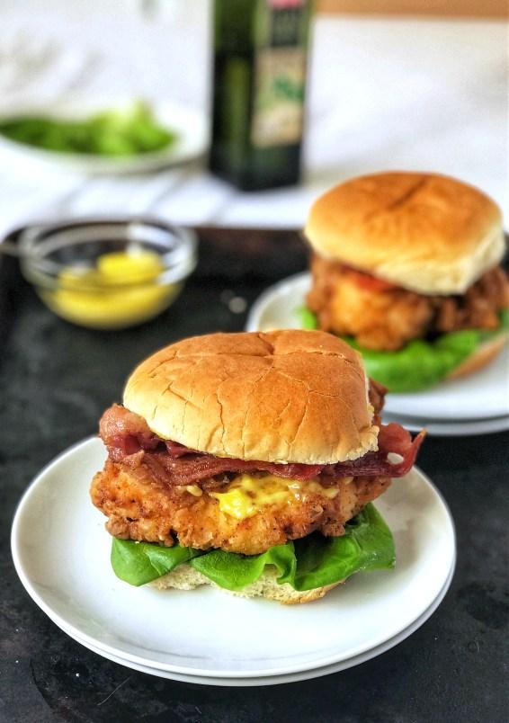 Crispy Chicken Sandwich With Garlic Aioli Sweet Tea And Thyme