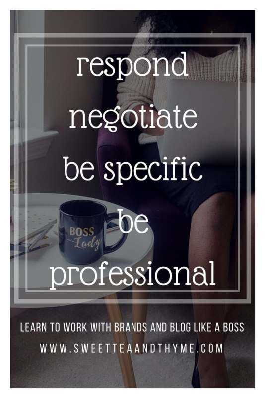 Did a brand send you a pitch you aren't interested in or they aren't interested in paying you a dime? Here's how to drop the bomb that you just aren't into them...like the classy boss you are, and not get a smudge of dirt on ya! Learn about blogging like a boss at www.sweetteaandthyme.com