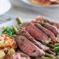 Pan Seared New York Strip Steaks with Mushroom Cream Sauce