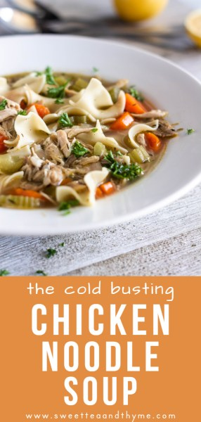 Chicken noodle soup is the perfect food for this season: comforting, warm, and scientifically proven to bust a cold!