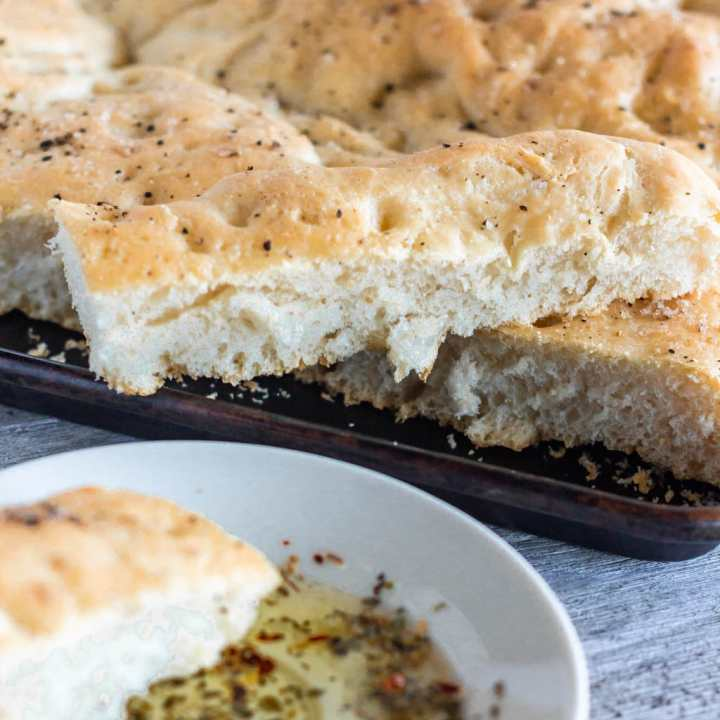 Sea Salt & Cracked Pepper Focaccia Bread