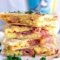 Ham and Egg Breakfast Quesadilla