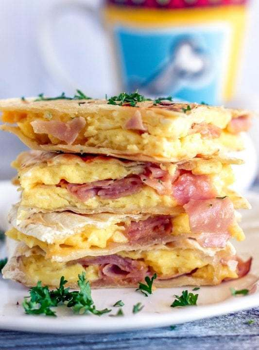 Ham and Egg Breakfast Quesadilla