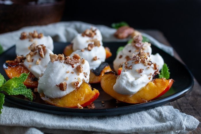 Grilled Nectarines with Coconut Cream
