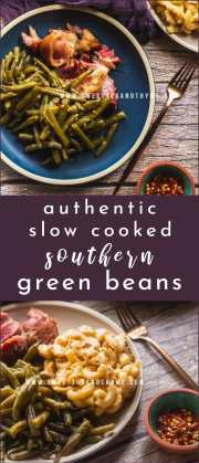 These flavorful and tender green beans have been a Southern staple for generations. Slow cooked in a vitamin-rich broth with smoked meat, this cultural side dish is on every Southern holiday table!