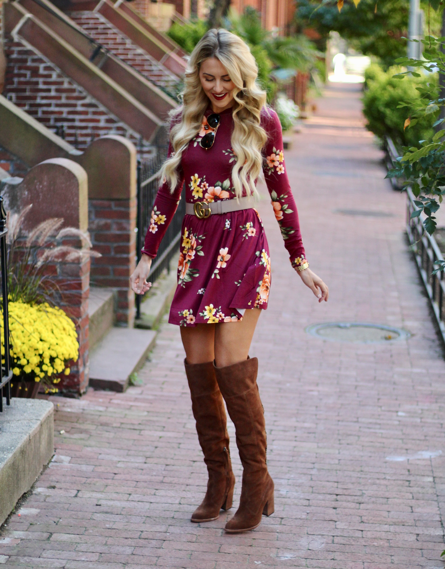 Fall Dresses To Pair With Otk Boots Sweet Tea With Madisweet Tea