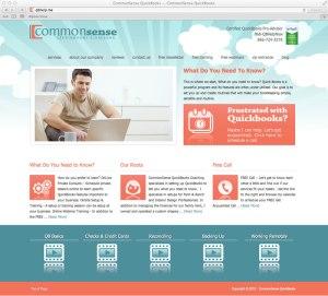 CommonSense Quickbooks Wordpress Website