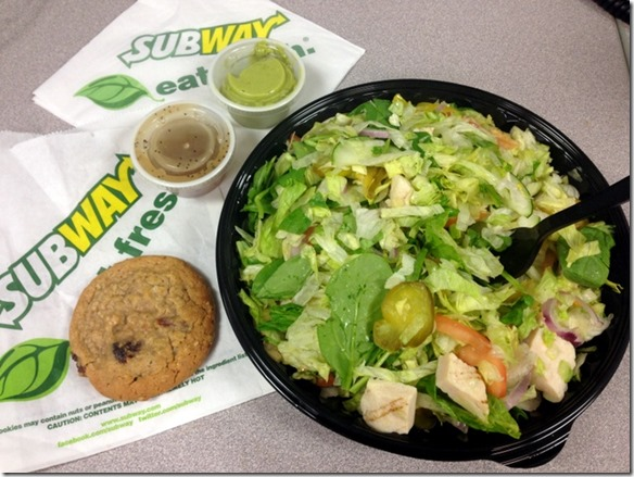Subway Nutrition Chopped Salads