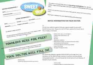 Diabetes travel letter template free