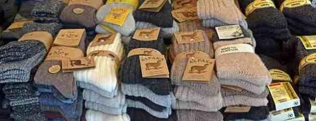 Alpaca wool warm diabetic socks for men