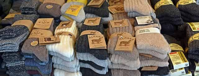 Alpaca wool warm diabetic socks for men