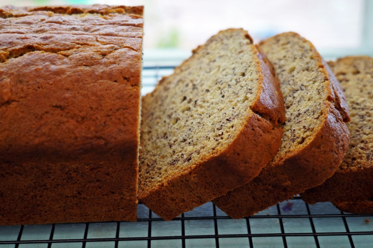 Melt-and-Mix Banana Bread