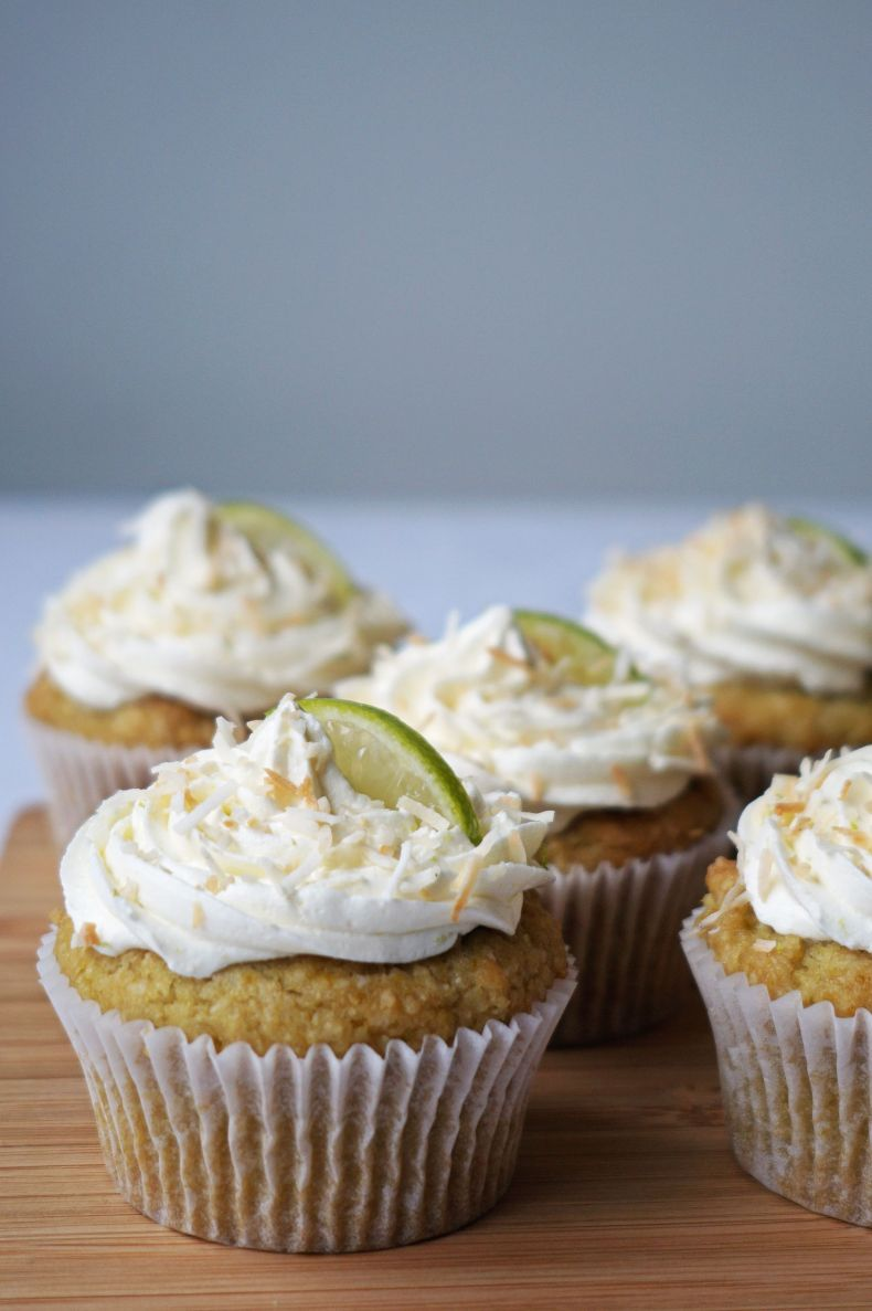 Gluten-free Lime and Coconut Cupcakes