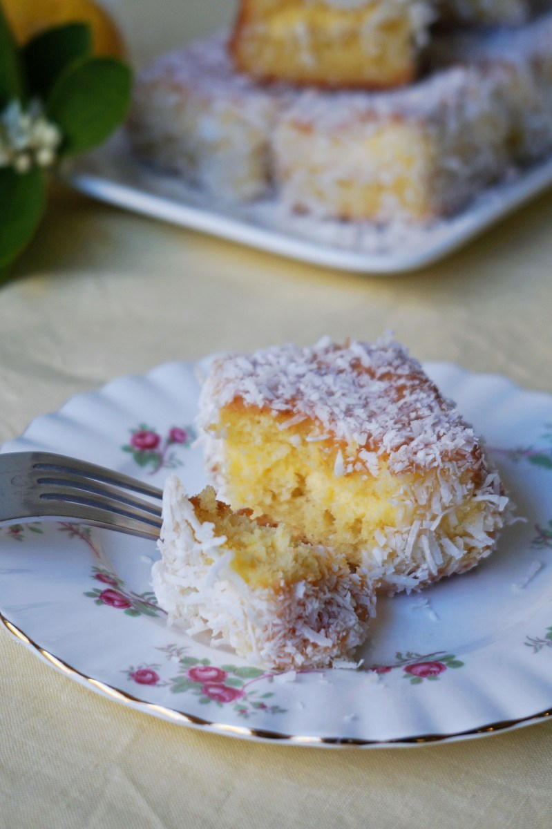 Lemon Curd Lamingtons {gf}
