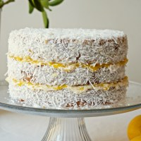 Lemon Lamington Layer Cake {vegan, GF}