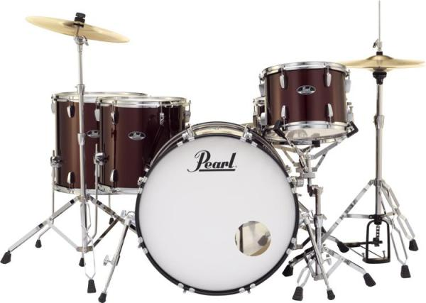 Pearl Roadshow 5-piece Complete Drum Set with Cymbals ...
