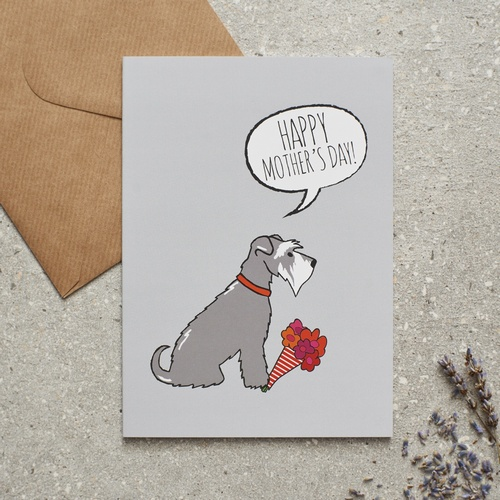 Schnauzer Mothers Day Card 275 Mischievous Mutts