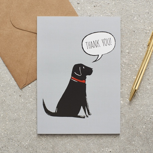Black Labrador Thank You Card 275 Mischievous Mutts