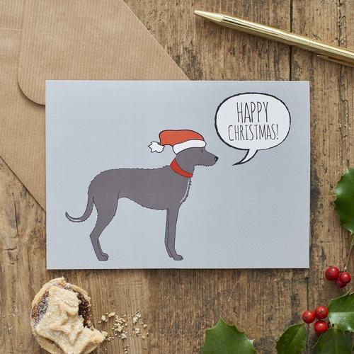 Lurcher Christmas Card 275 Mischievous Mutts
