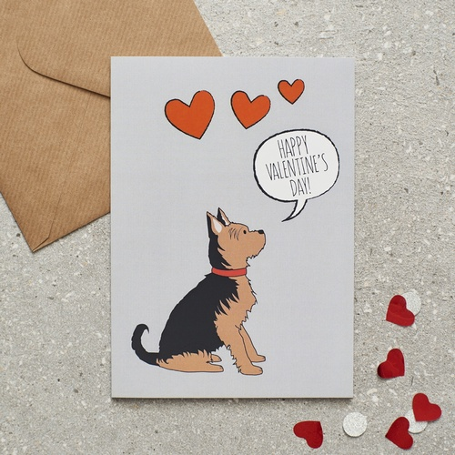 Yorkshire Terrier Valentines Day Card 275 Mischievous