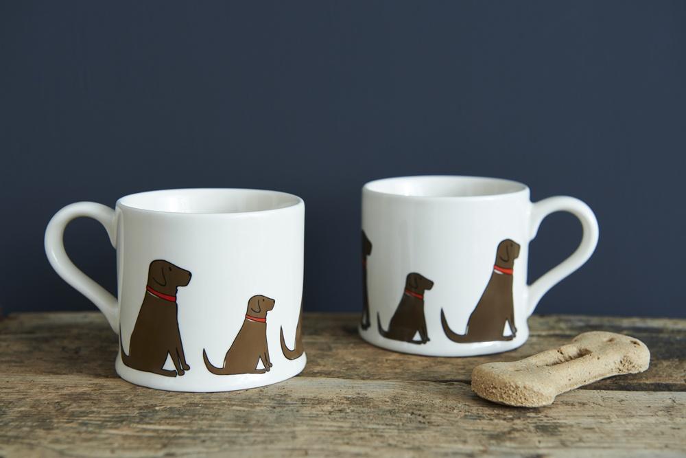 Chocolate Labrador Mug 163 15 95 Mischievous Mutts Mugs
