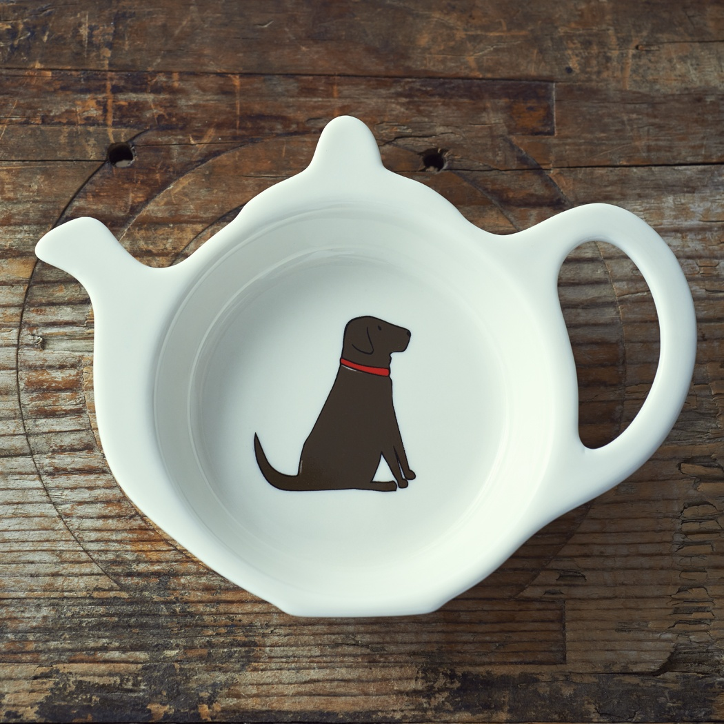 Chocolate Labrador Teabag Dish 163 9 50 Mischievous Mutts