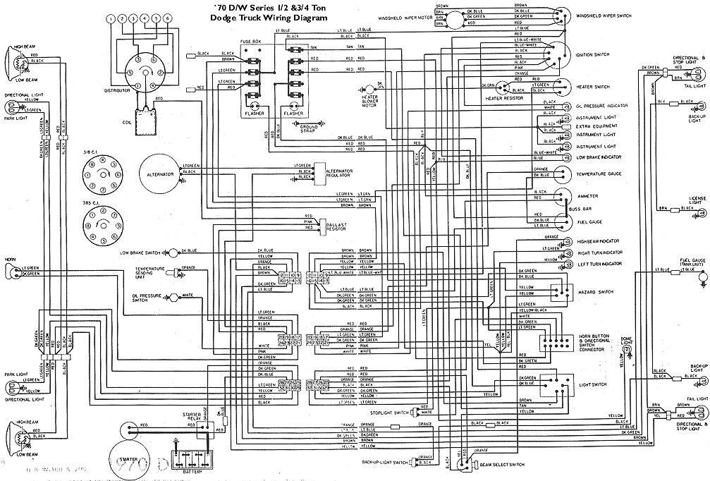 wiring diagram for 1970 dodge d100 sweptline 1970 dodge