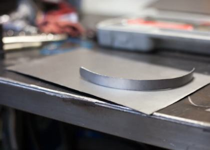 """Now for the """"pocket"""". I am using 20ga steel for the sheet metal work."""