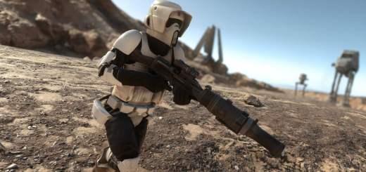 Scout trooper on Tatooine.