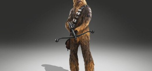 Chewbacca's fur in an image render for Battlefront.