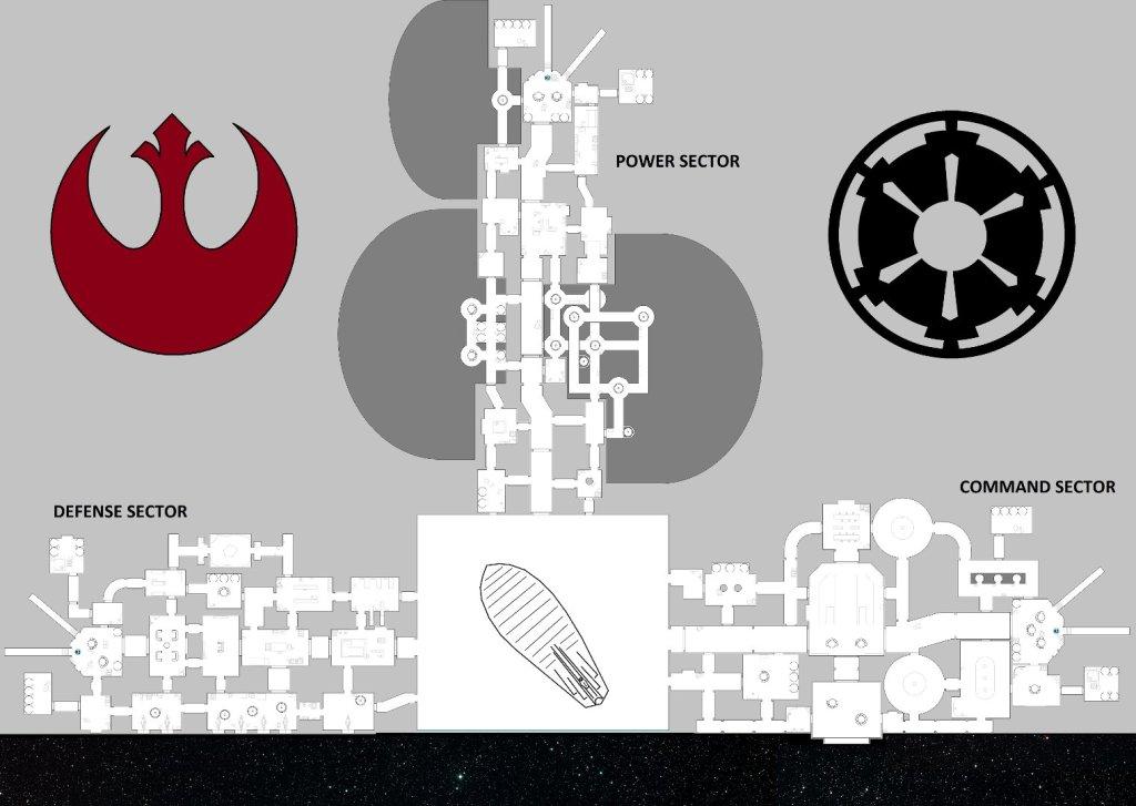 Death Star top-down view.