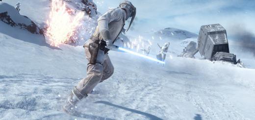 Luke on Hoth in Battlefront.