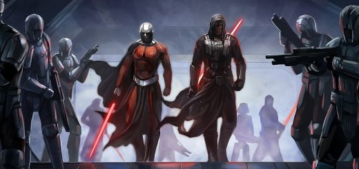 Malak and Revan from KOTOR.