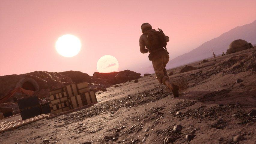 A Rebel on Tatooine in Battlefront.