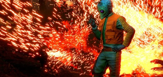 Greedo and a blast in Battlefront. Image by Cinematic Captures.