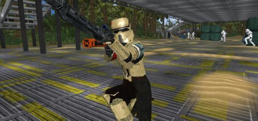 Shoretrooper in a Rogue One map Battlefront II.